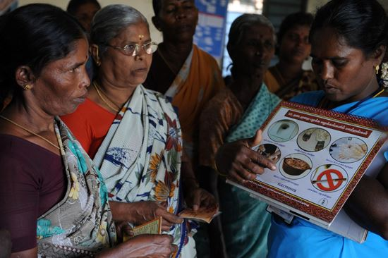 A self-help group trained in food hygiene to improve health and prevent disease. Photo: Hand in Hand  Photo/illustration: A self-help group trained in food hygiene to improve health and prevent disease. Photo: Hand in Hand